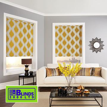 Roller blinds by Blinds 2000
